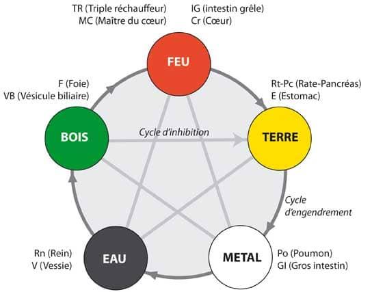 les cinq éléments en MTC